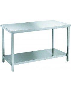 S/steel table 120 cm wide...