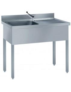 Single bowl s/steel sink +...