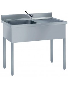 Single bowl s/steel sink +...