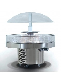 Dome display chiller with...