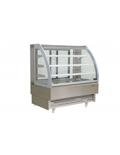Curved glass refrigerated...