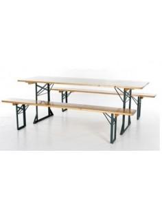 Tisch mit Bänken L220 H78 -...